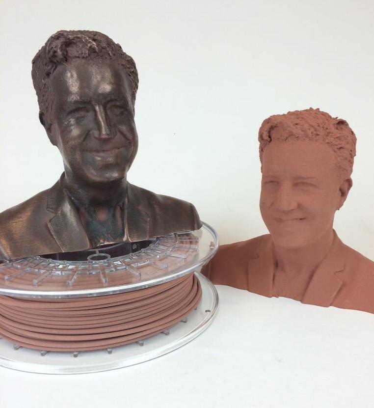 1,75 mm Bronce fill ColorFabb filamento para 3D impresora