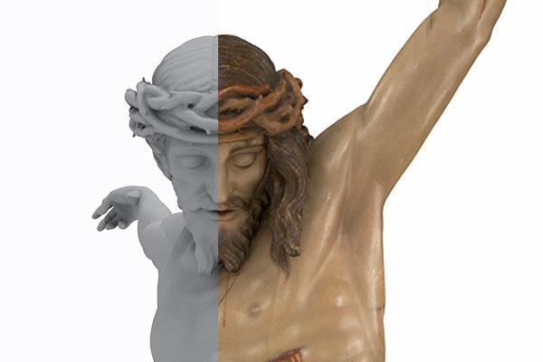 Modelo 3D con sin textura Cristo de la Buena Muerte