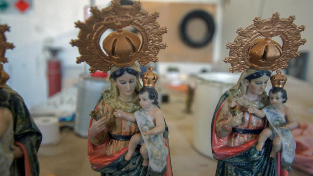 Virgen de Manjavacas detalle