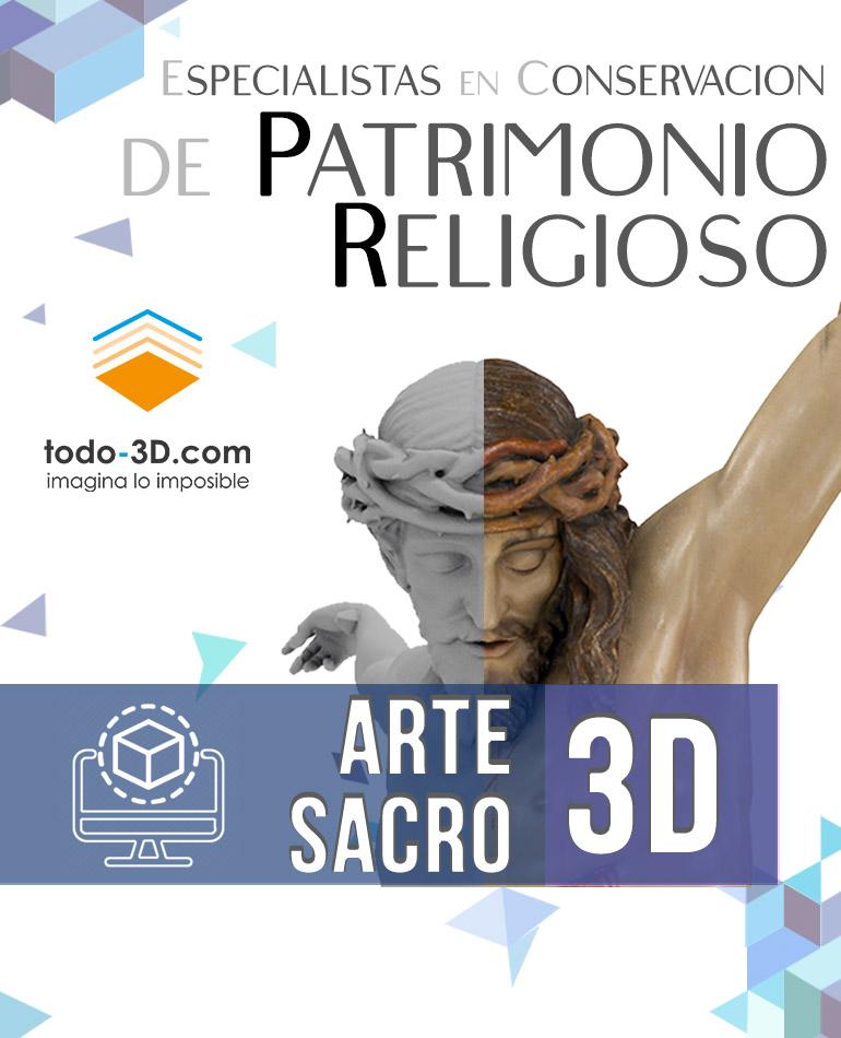 Portada Inicio movil Arte Sacro 3D - Todo 3D Mystic Design S.L