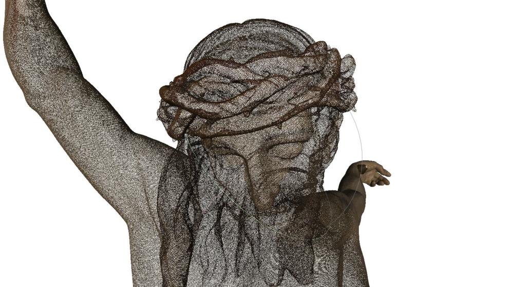 Modelo 3D nube puntos Cristo de la Buena Muerte