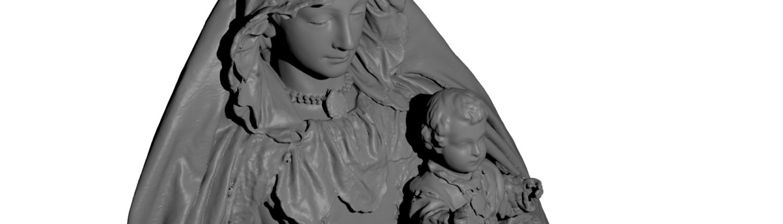 Modelo 3D Virgen de la Paz